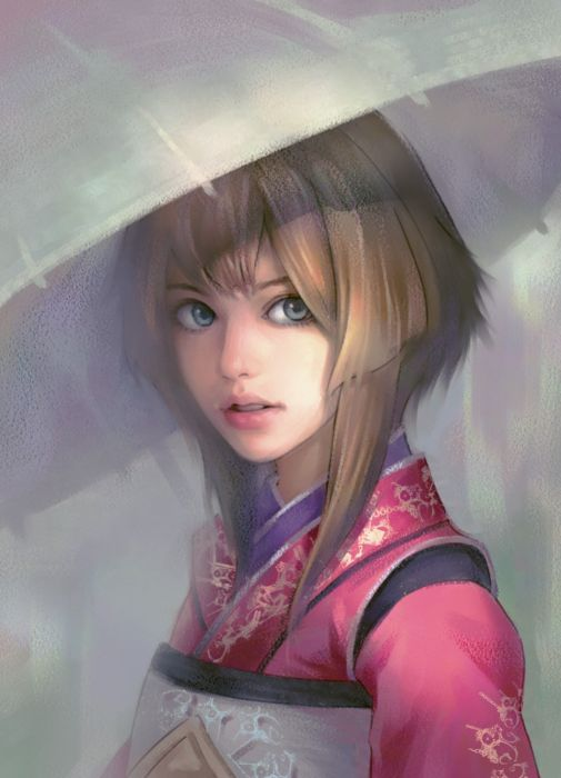 evan-liu-kimono Digital 2D Characters girl kimono original wallpaper