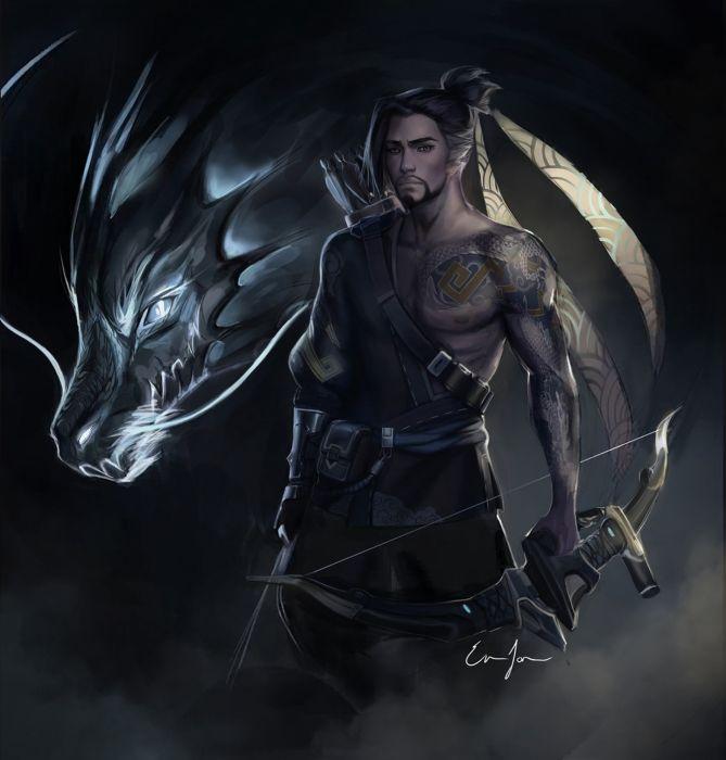 emma-jonsson fantasy male warrior original dragon wallpaper