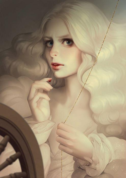svetlana-tigai original character beautiful woman fantasy dress wallpaper