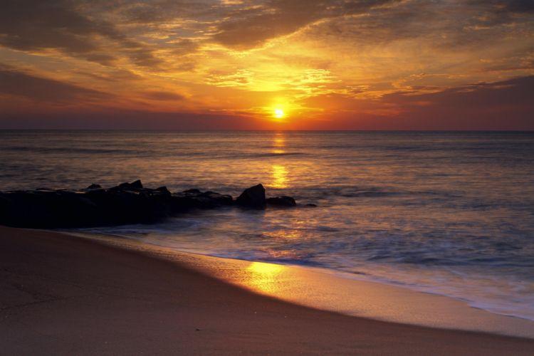 Sunrise Reflection Ocean City Maryland wallpaper