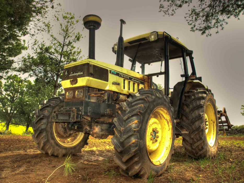 tractor amarillo lamborghini wallpaper