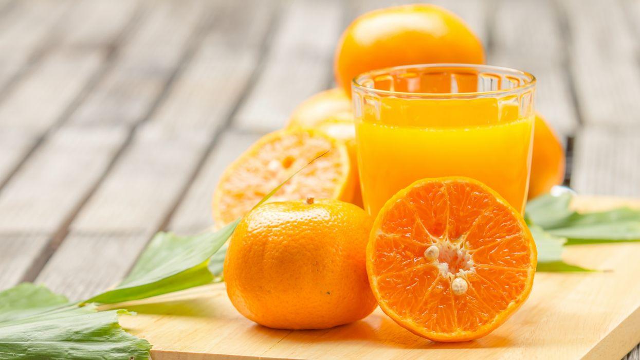 zumos naranjas frutas vaso vidrios wallpaper