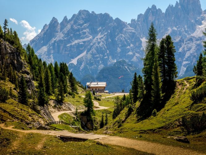 italy mountains dolomites south tyrol dy wallpaper