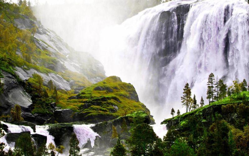 majestic-waterfall-in-sunshine wallpaper