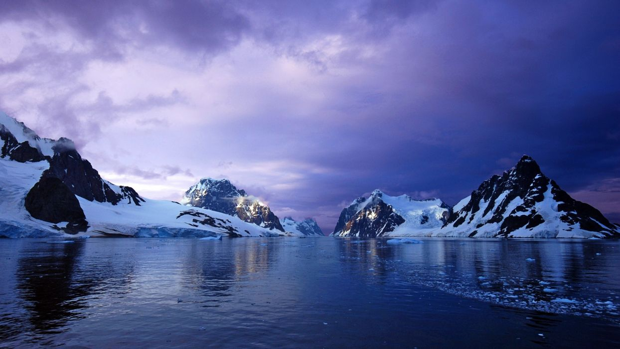purple lemaire channel antarctica wallpaper