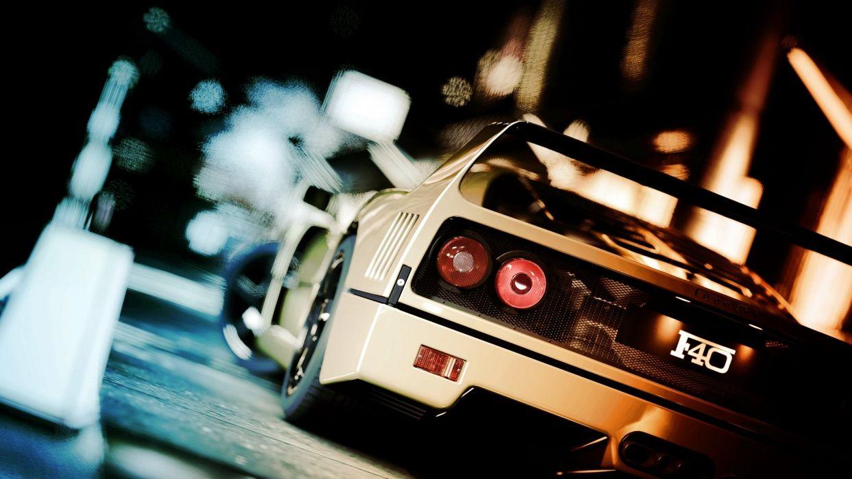Gran Turismo Ferrari F40 supercars 1920x1080 wallpaper