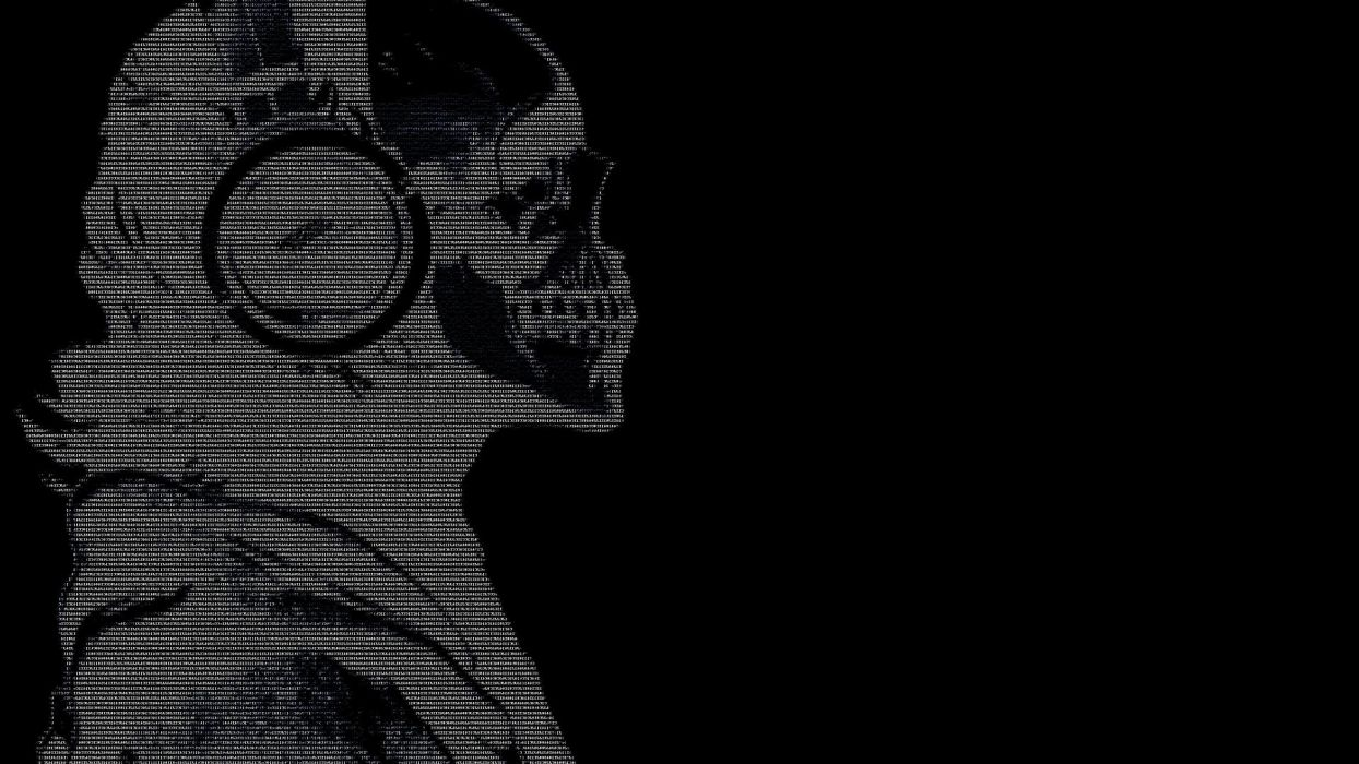 headphones skulls black dark text ascii hackers guy 1920x1080 wallpaper