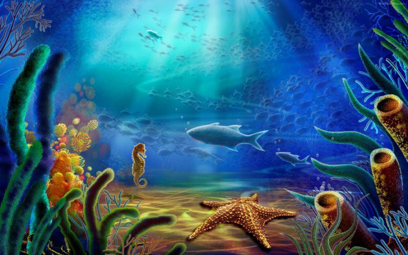 3d abstracto fondo mar wallpaper