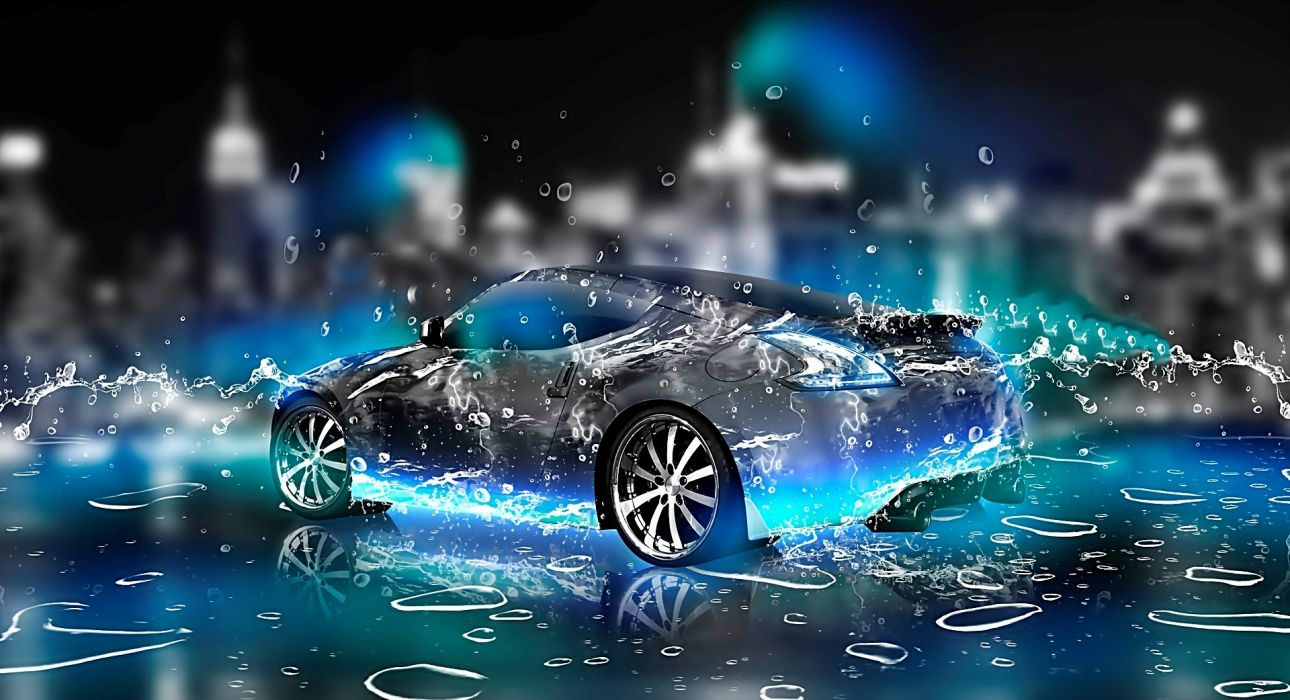 3d coche abstracto wallpaper