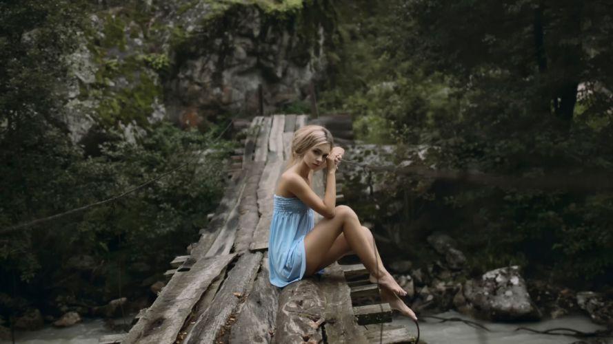 Sensuality sensual sexy woman girl model barefoot feet legs minidress wallpaper