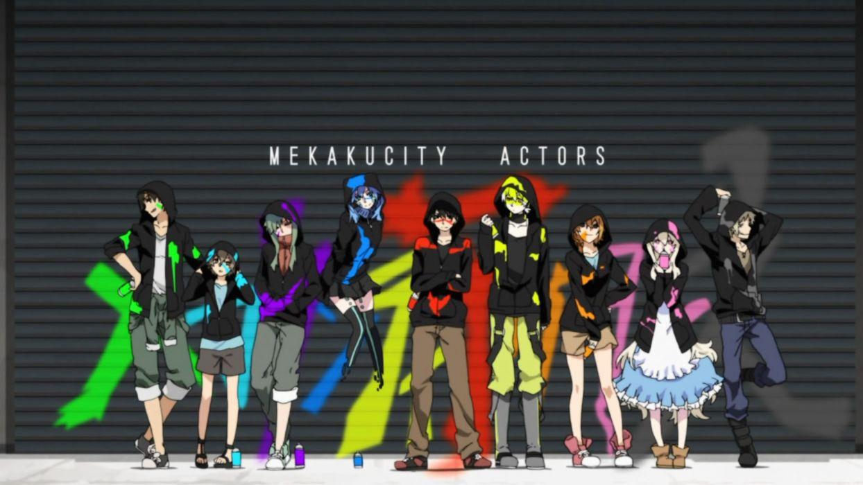 mekakushidan KAGEROU PROJECT mekakucity actors wallpaper
