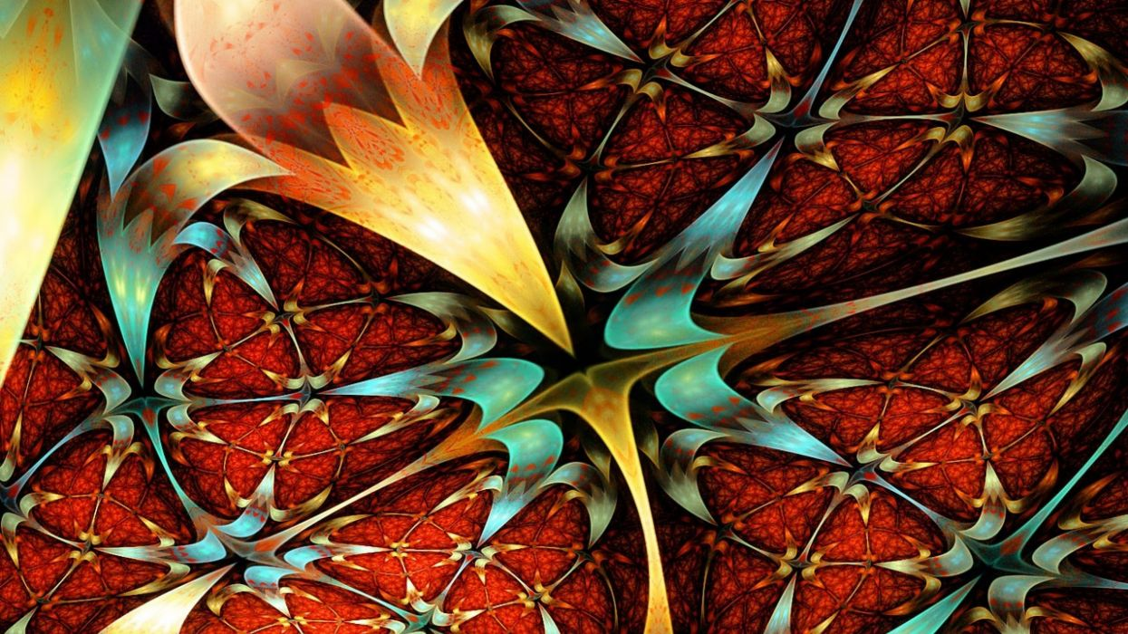 fractal flores colores abstracto wallpaper