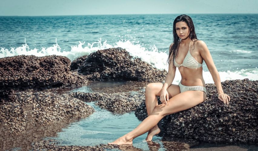 Debora bollywood actress celebrity model girl beautiful brunette pretty cute beauty sexy hot pose face eyes hair lips smile figure makeup indian wallpaper