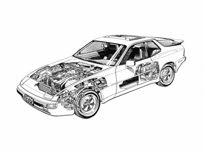Porsche 944 Cutaway wallpaper