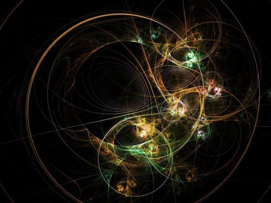 abstracto fractal colores circulos wallpaper