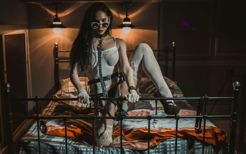 Sensuality sensual sexy woman girl model Louis De Navarre legs stocking bed 500px wallpaper