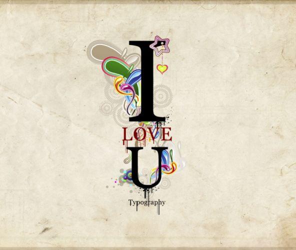 love you texto abstracto wallpaper