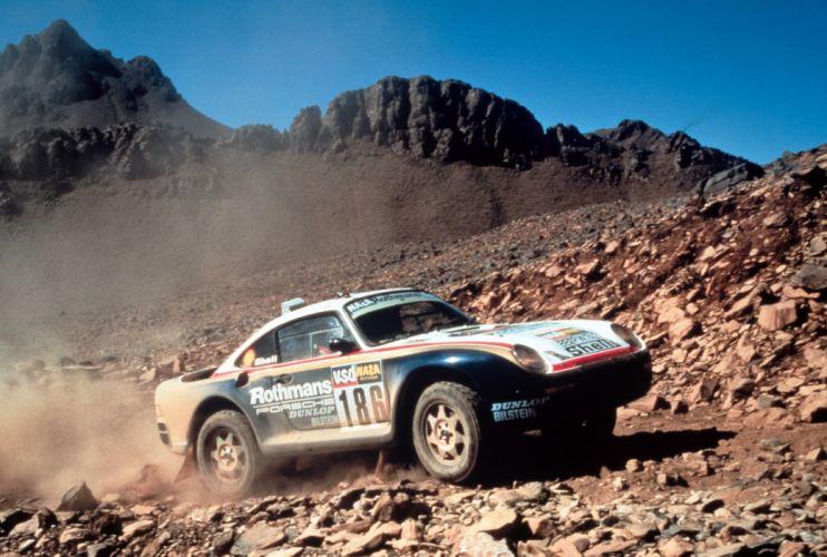 Porsche 959 Paris Dakar Classic Race Car wallpaper