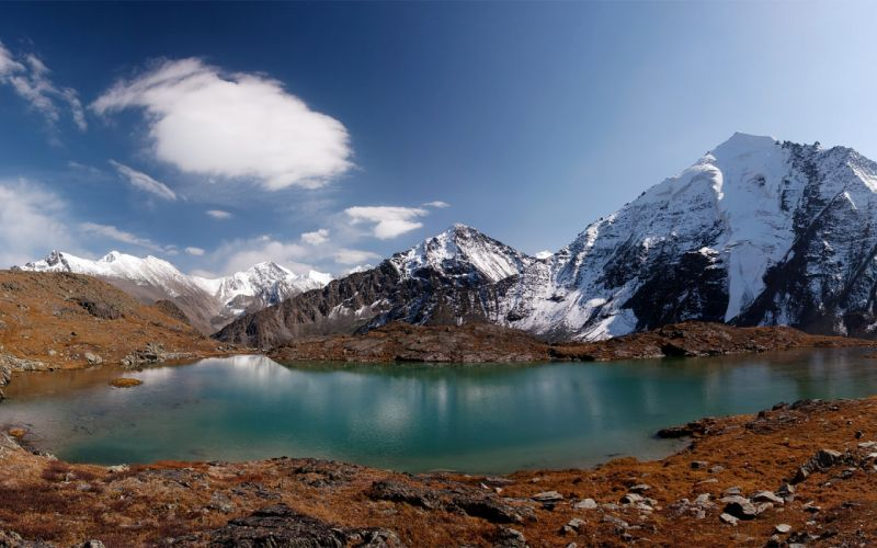 lake mountains wallpaper