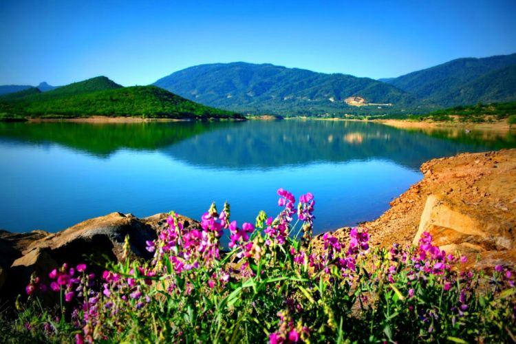 lakes-tranquil-lake-crystal-reflection-sky-quiet-rocks-nice-nature-lovely-river-mirrored-flowers-blue-clear-water-shore wallpaper