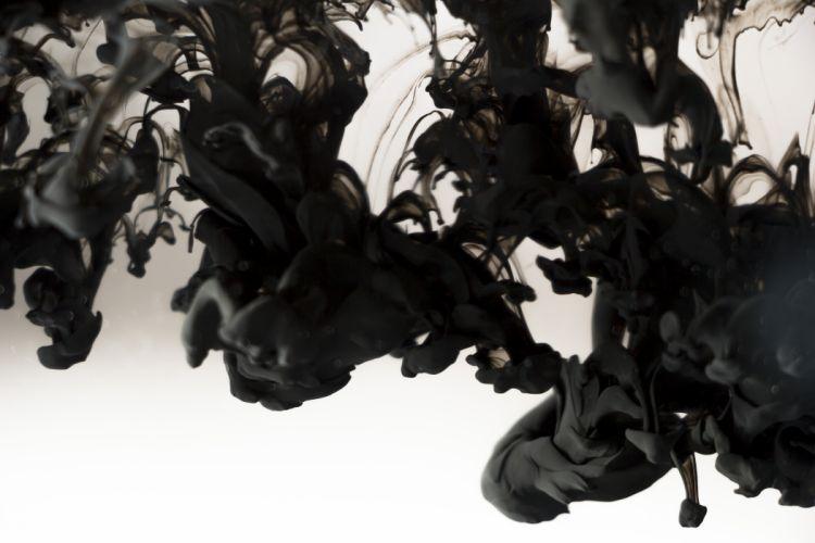 abstract black paint smoke wallpaper