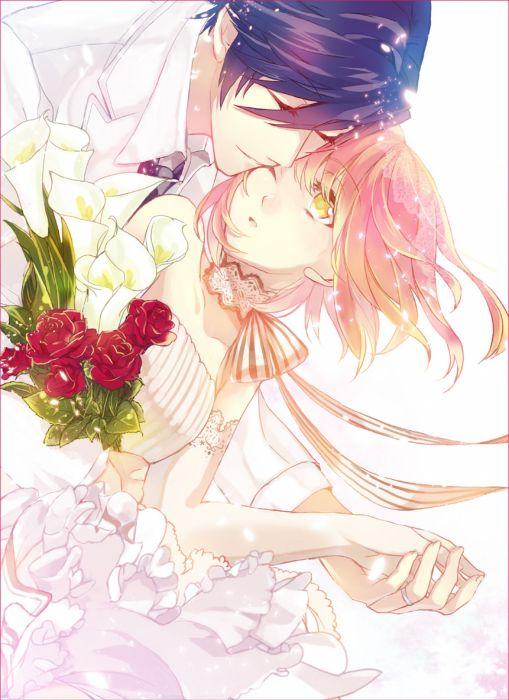 anime girl dress couple girl boy wallpaper