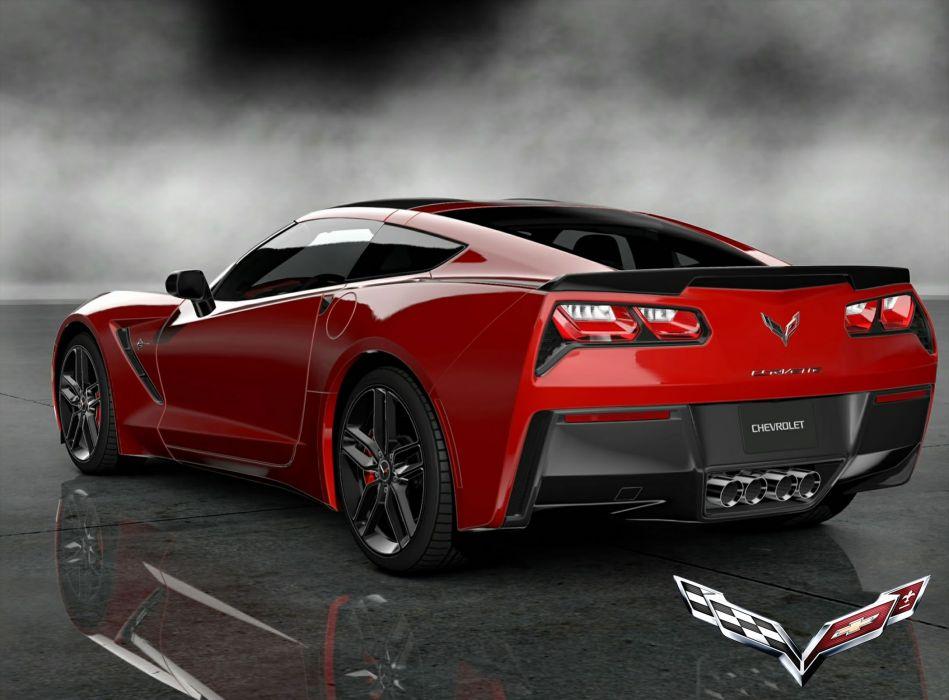 Red Corvette II wallpaper