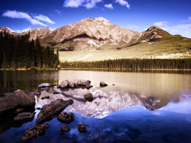 Horizontal reflection Mountain 898 best 3200 Lake 954 views 2389 Nature wallpaper