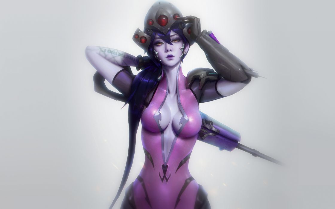 Overwatch Widowmaker sexy illustration wallpaper