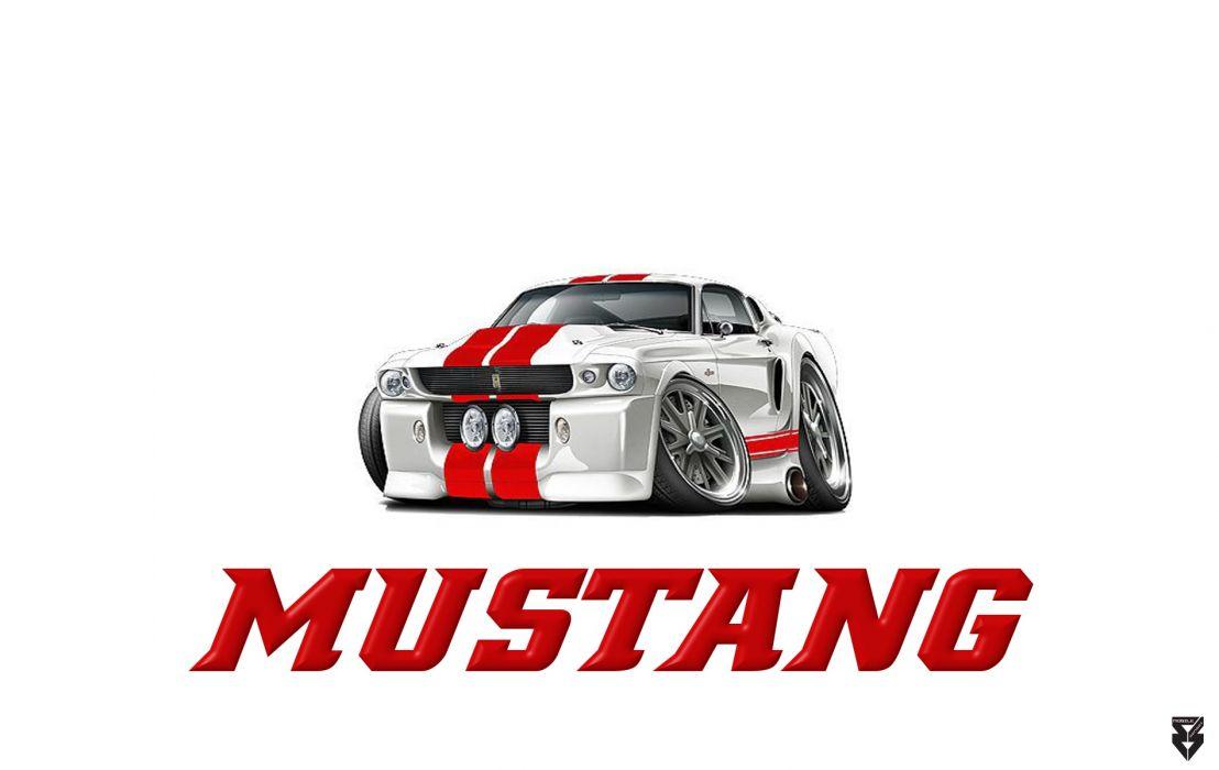 Old School Mustang wallpaper
