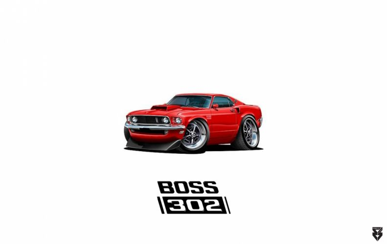Boss 302 Mustang wallpaper