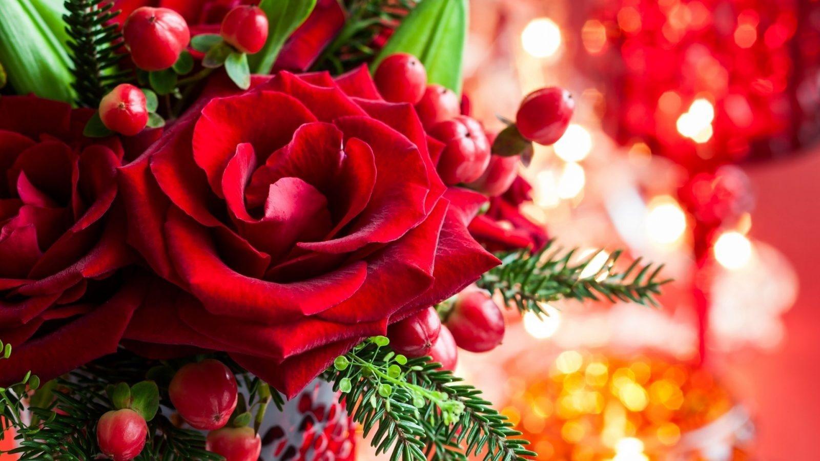 Картинки с новогодними цветами, днем