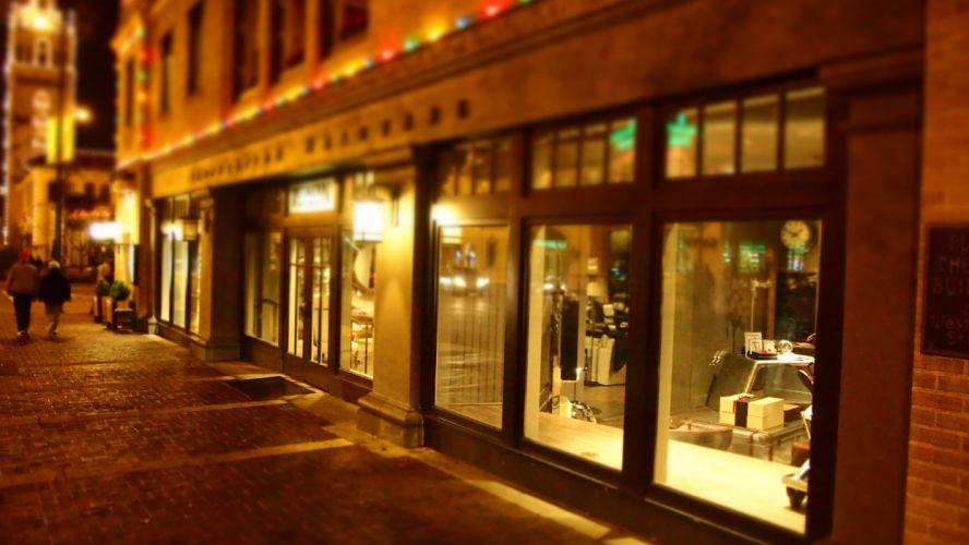 architecture bar blur boutique building business city commercial commercial building daylight display windows establishment evening hotel indoors interior design wallpaper
