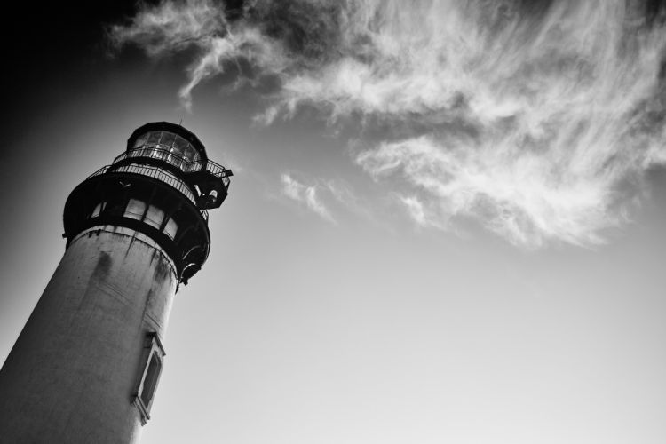 architecture black-and-white building clouds high landmark lighthouse low angle shot outdoors sky wallpaper