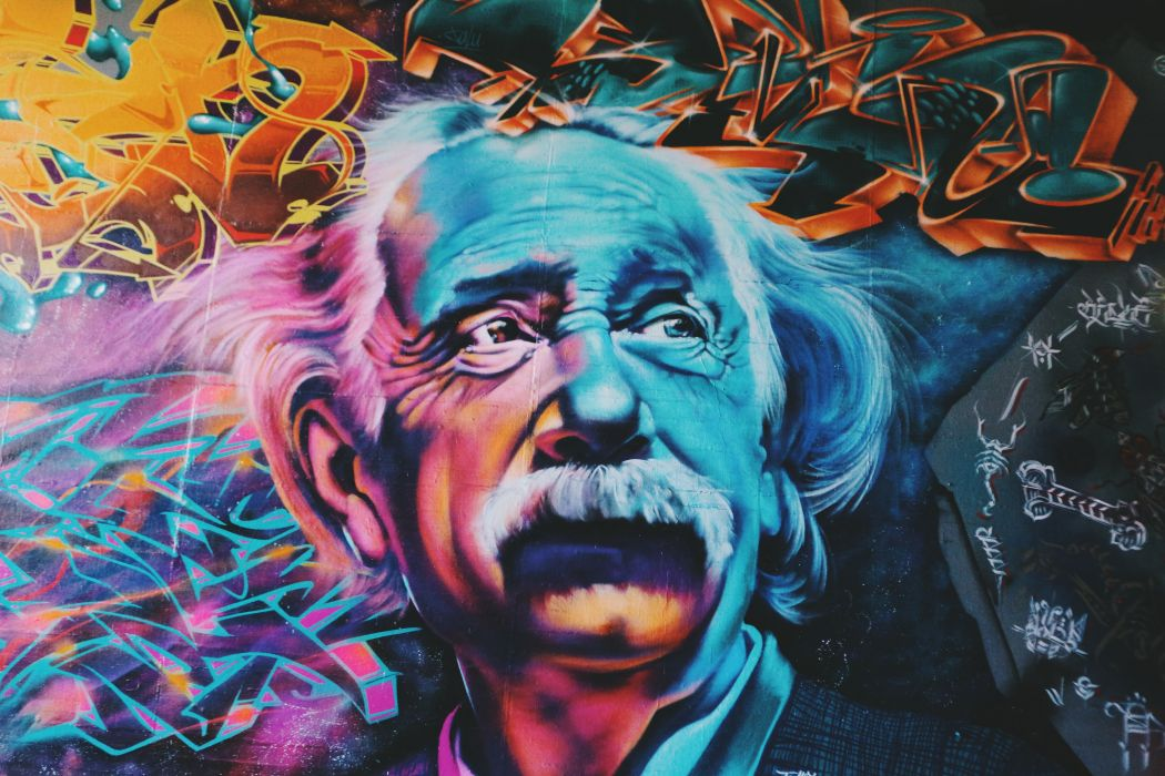Albert Einstein Art Colorful Colourful Graffiti Wallpaper