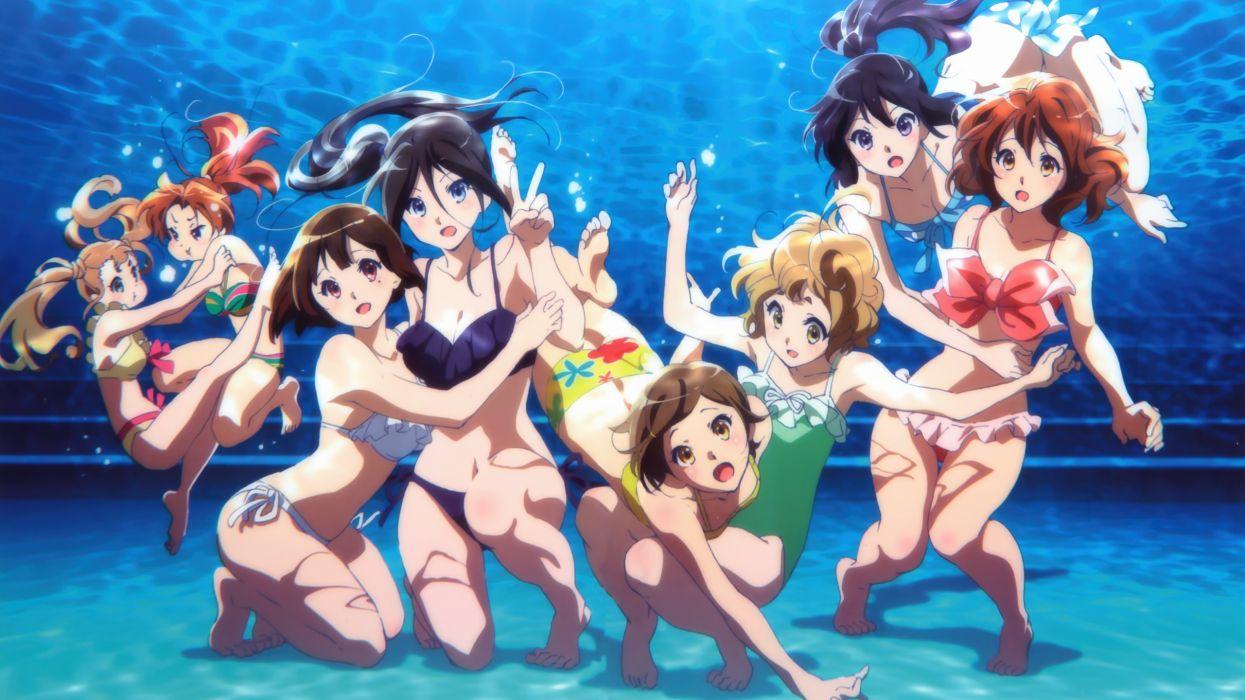 grupo mujeres anime manga wallpaper