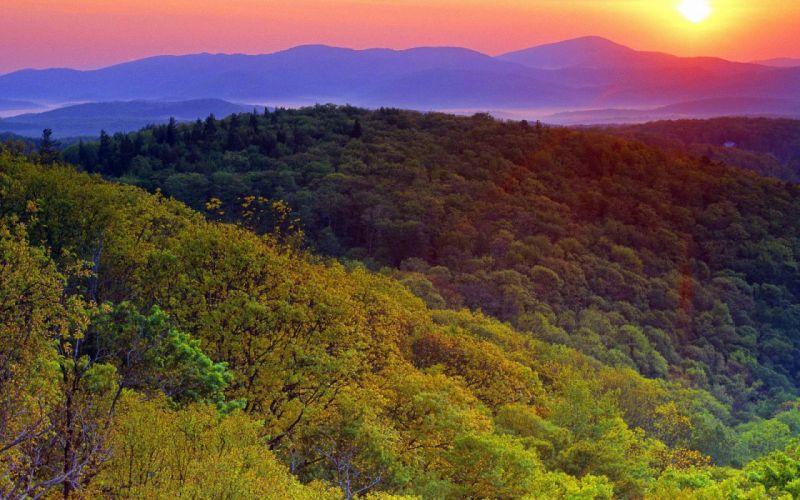 California Sunrise Near Grandfather Mountain wallpaper