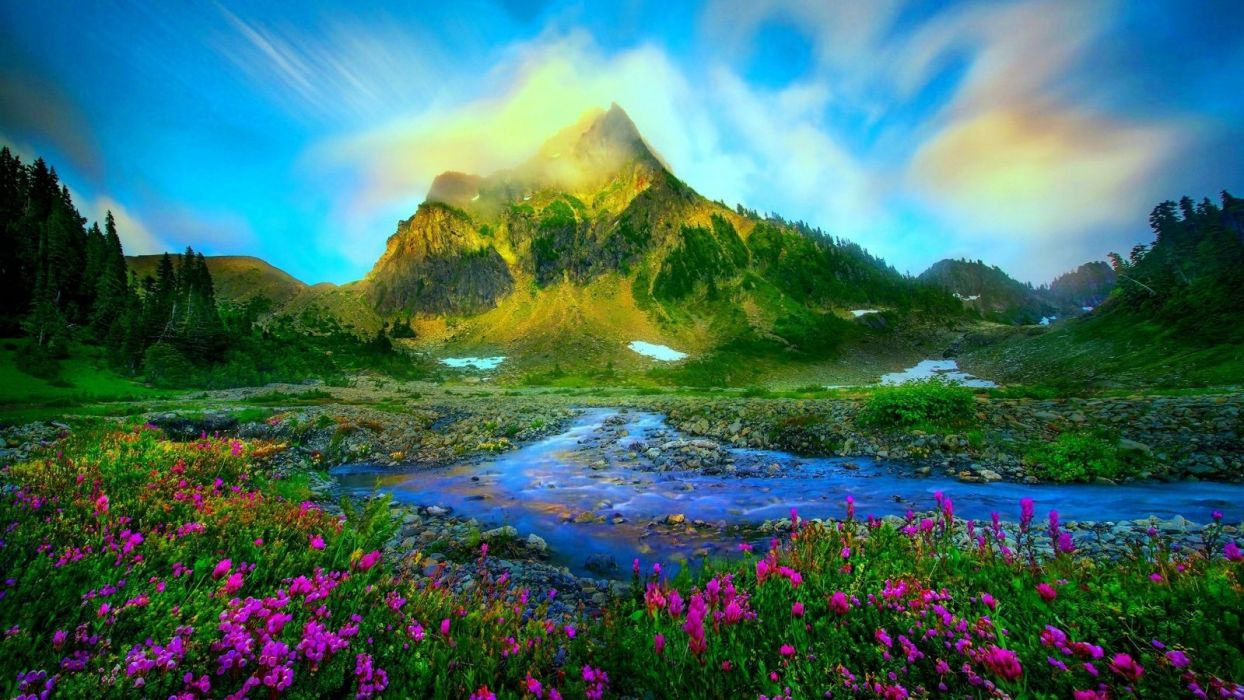 -mountain-nature-landscape-snowy-mountains wallpaper