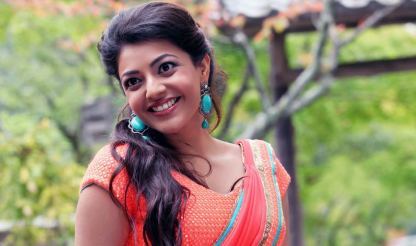 kajal bollywood actress celebrity model girl beautiful brunette pretty cute beauty sexy hot pose face eyes hair lips smile figure makeup indian wallpaper