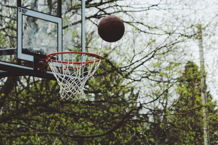 backboard ball basket basketball Basketball Hoop dunk field game gameplan (sports) goal high leisure outdoors playground recreation sports squad trees web wallpaper