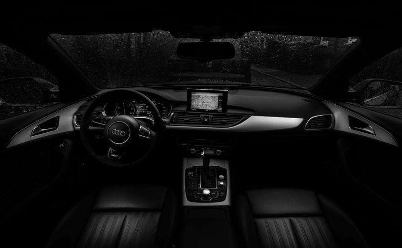 audi automobile automotive black-and-white car car interior dashboard steering wheel vehicle windshield wallpaper