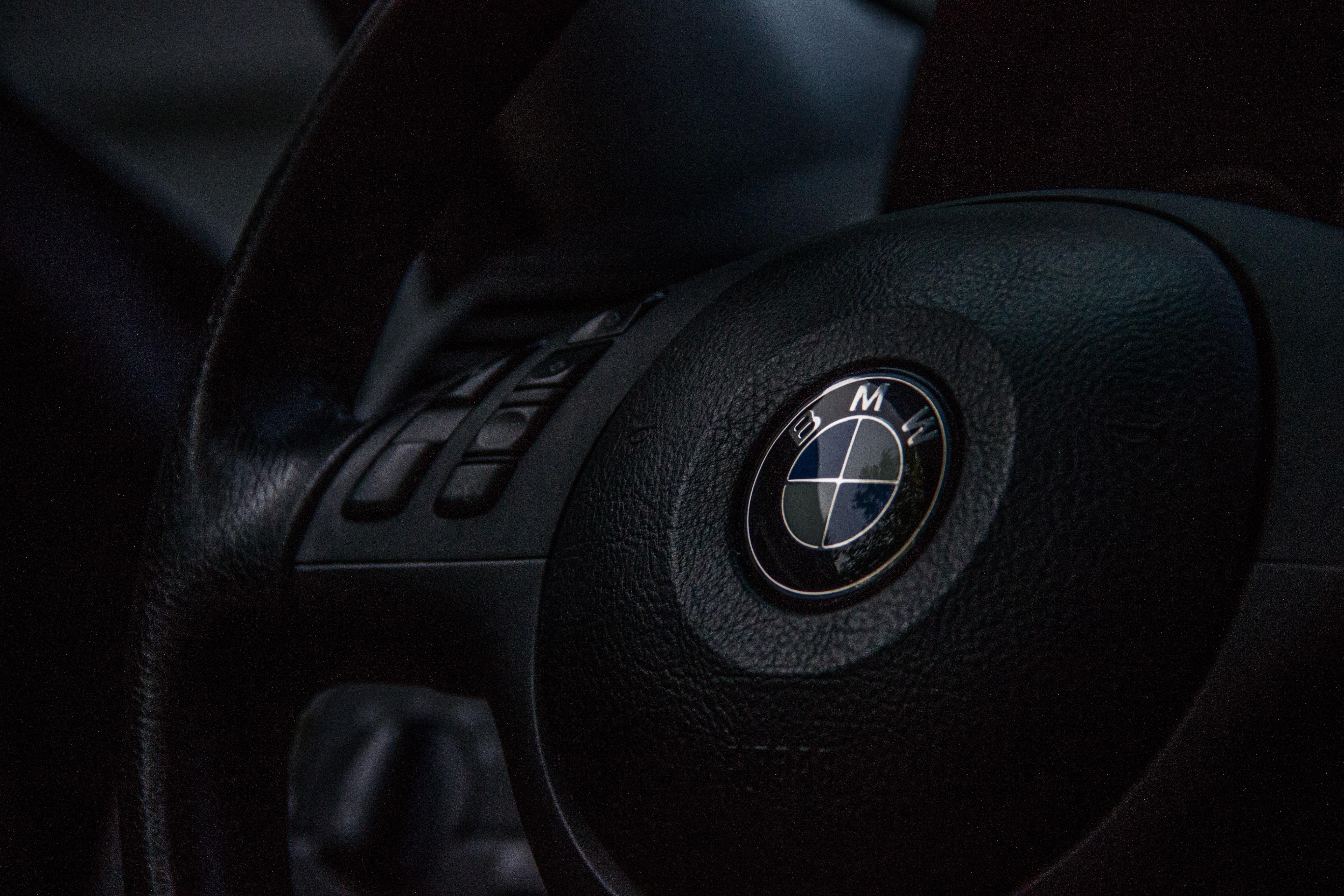 Automobile automotive BMW car logo steering wheel vehicle ...