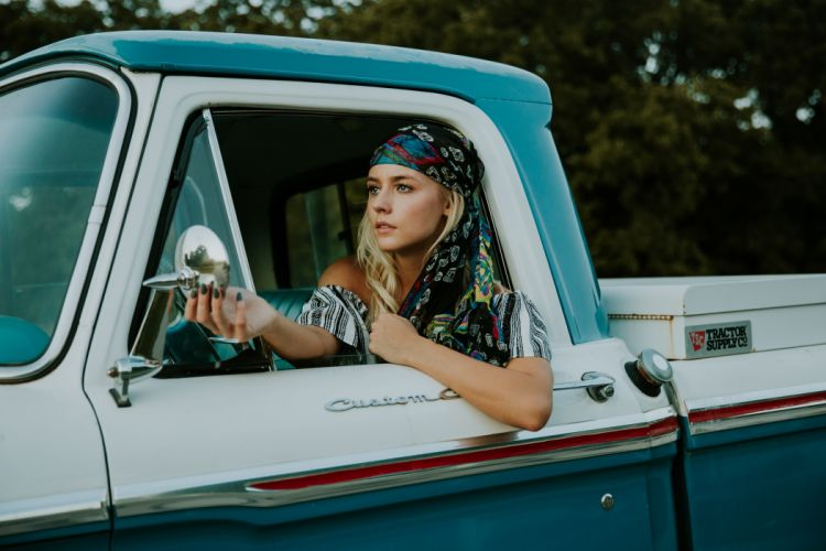beautiful car driver face fashion female model outdoors person pick up vehicle woman young wallpaper