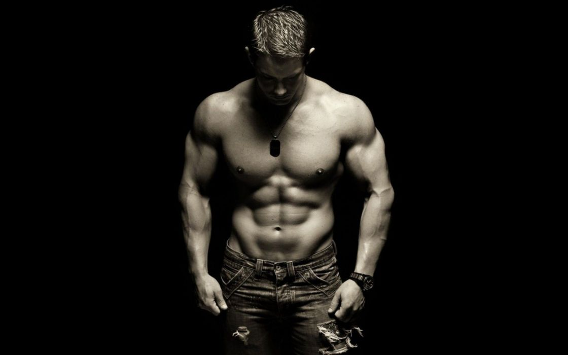 biceps black and white body bodybuilder bodybuilding brawny dark fit healthy man muscles person sexy shirtless wallpaper