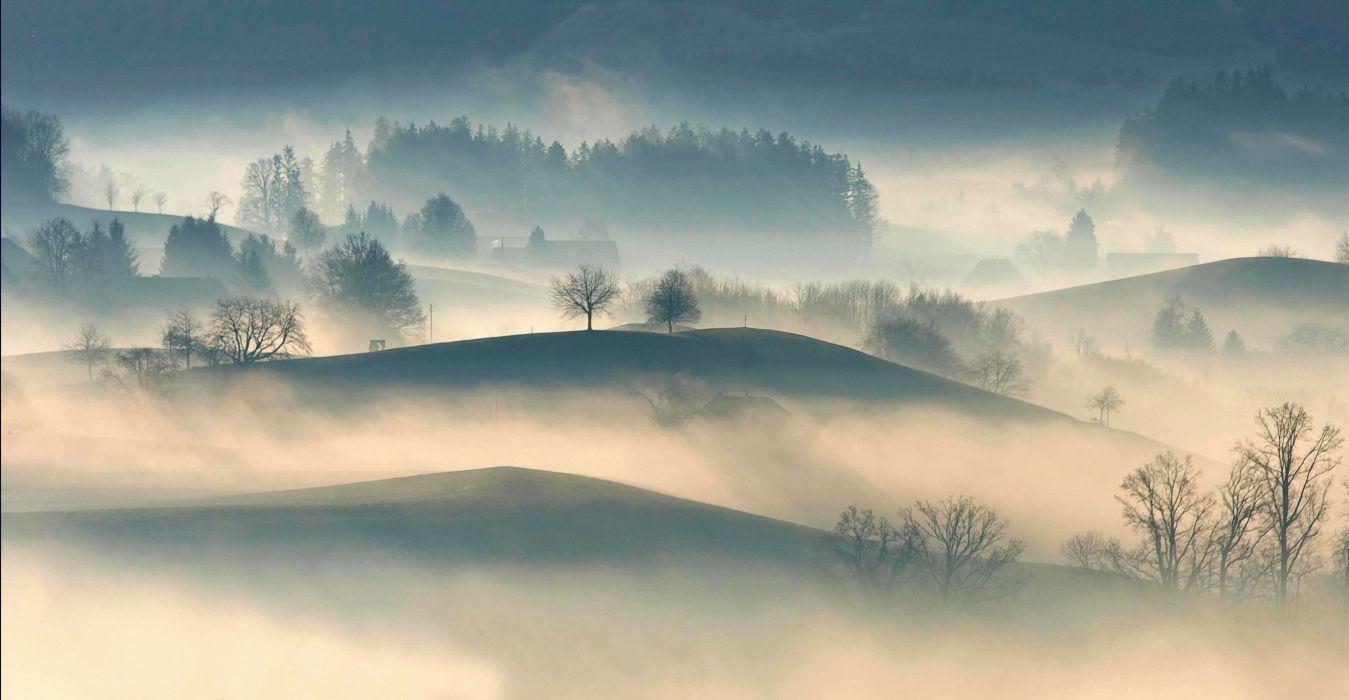 creepy dark dawn dusk dust eerie hills nature sky stormy trees wallpaper