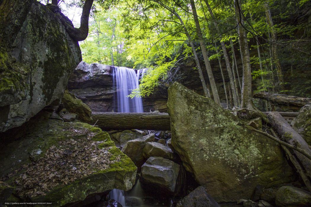 cucumber-falls ohiopyle-state-park wallpaper