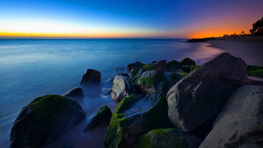 ocean-sea-beauty-beautiful-blue-good-sky-amazing-rocks-sunrise-florida wallpaper