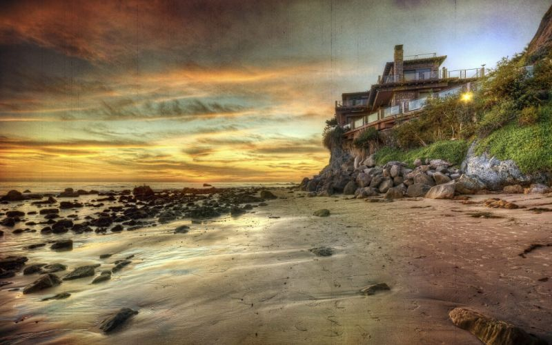 sunset-home-sky-architecture-stones-clouds-beauty-beautiful-beach-cool-lovely-landscape-great-colors-pretty-sea-nature-villa-coast-nice-amazing wallpaper