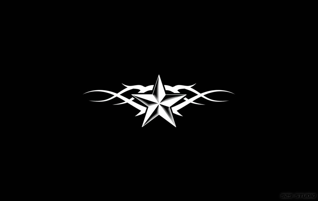 Black and White Tribal Nautical Star wallpaper