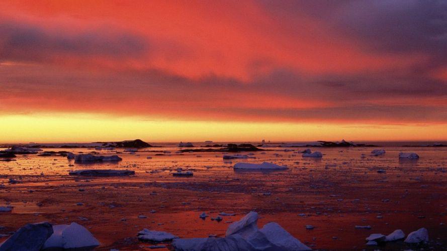 sunset-nature-sky-reflection-beautiful-sea wallpaper